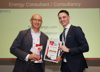 Prize being presented to Severn Wye Energy Agency