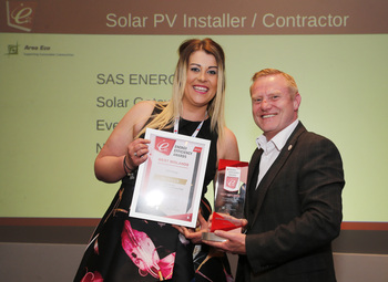 Prize being presented to SAS ENERGY